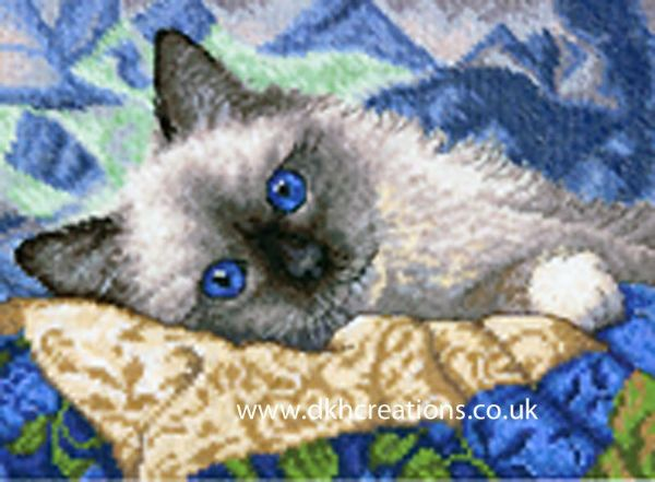 Charming Cat Cross Stitch Kit